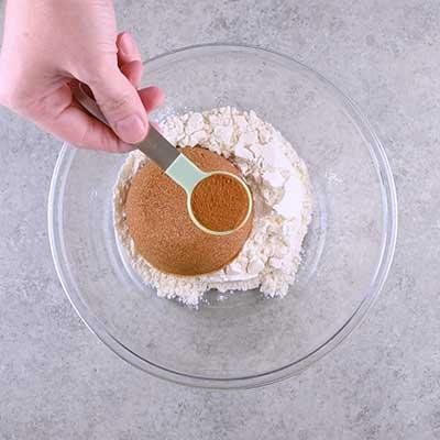 Coffee Creamer French Toast Casserole Step 3 - Add cinnamon.