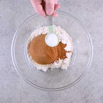 Coffee Creamer French Toast Casserole Step 3 - Add salt.