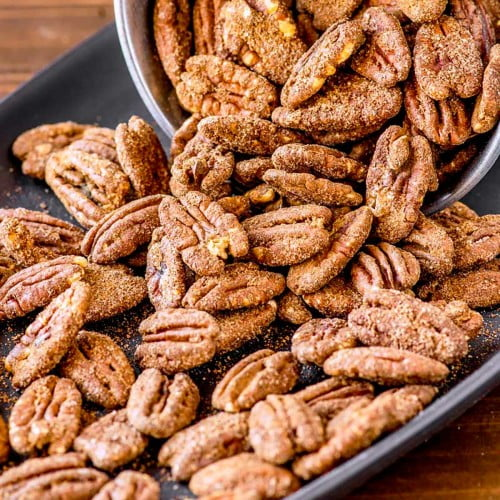 Sugared pecans made with 4 ingredients.