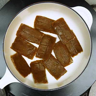 Chamoy Rim Paste Step 1 - Melt and stir.