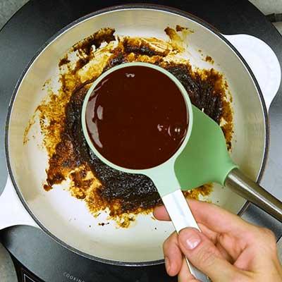 Chamoy Rim Paste Step 2 - Add chamoy.