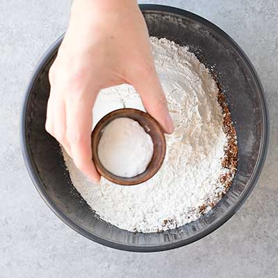 Cookie Dough Whoopie Pies Step 1 - Add baking soda.