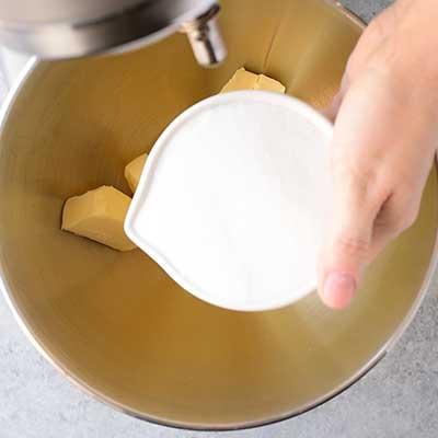 Cookie Dough Whoopie Pies Step 2 - Add sugar.