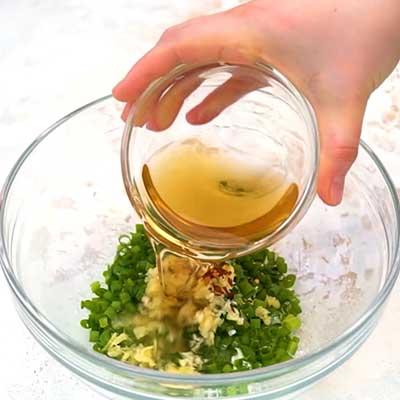 Crock Pot Bourbon Chicken Step 1 - Add apple cider vinegar.