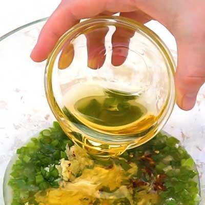 Crock Pot Bourbon Chicken Step 1 - Add honey.
