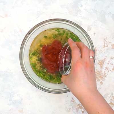 Crock Pot Bourbon Chicken Step 1 - Add water.
