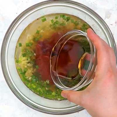 Crock Pot Bourbon Chicken Step 1 - Add bourbon.
