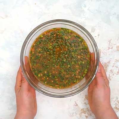 Crock Pot Bourbon Chicken Step 1 - Mix well.