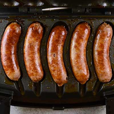 Italian Sausage and Potato Casserole Step 1 - Cook sausage.