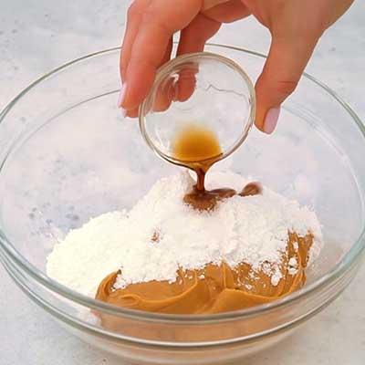 Peanut Butter Brownie Bombs Step 2 - Add vanilla.