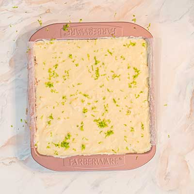 Watermelon Tequila Lime Bars Step 9 - Garnish top layer with more lime zest.