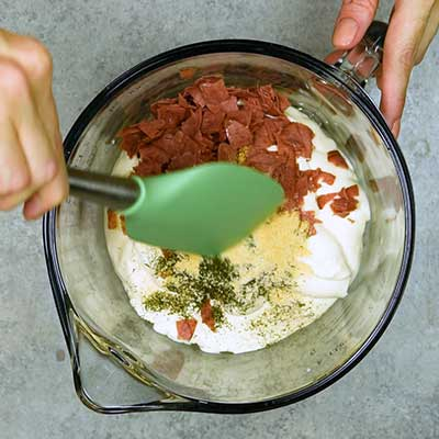 Chipped Beef Dip Step 1 - Mix well.