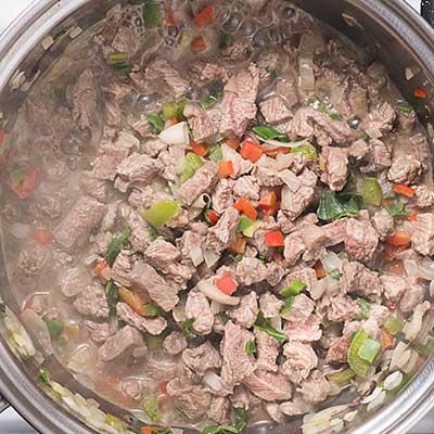 Baked Beef Empanadas Step 2 - Heat until beef is cooked through.