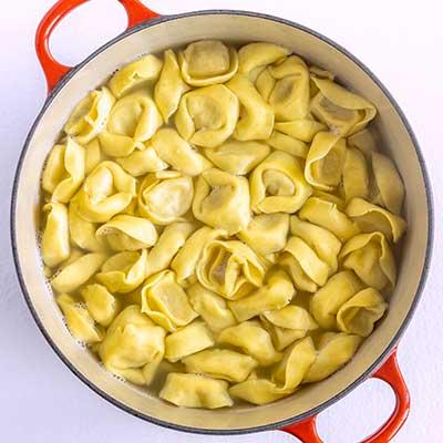 Tortellini Pasta Salad Step 1 - Cook tortellini per package instructions.