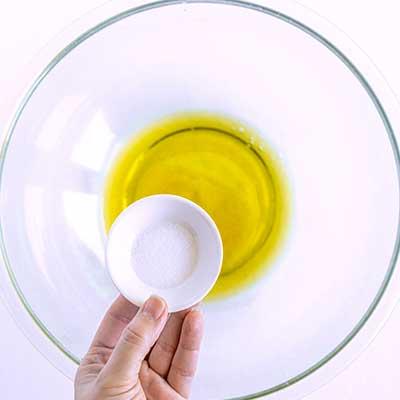 Tortellini Pasta Salad Step 2 - Add salt.