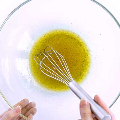 Tortellini Pasta Salad Step 2 - Whisk well.