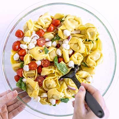Tortellini Pasta Salad Step 3 - Mix well.